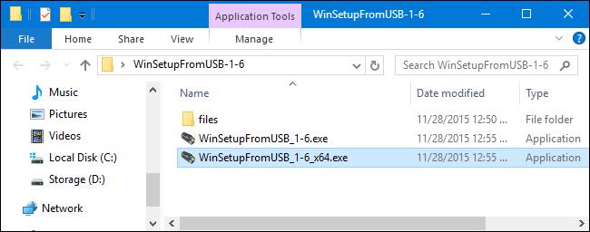 با نرم افزار WinSetupFromUSB 1